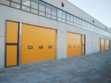 Желтые промышленные ворота