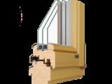 Профиль в «разрезе» деревянного евроокна