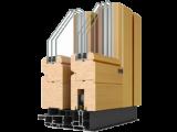 Профиль в «разрезе» раздвижной деревянной системы