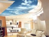 Потолок с небом на кухне