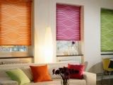 Разноцветные «свободно висящие» рулонные шторы